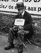 Lisette Model (1901-1983). Blind Man, Paris, 1937. Gelatin silver print, printed 1977, signed and e