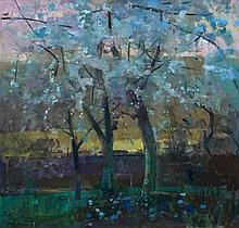 Fred Cuming (b. 1930) - Cherry Trees - Spring