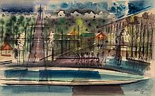 Kenneth Wood (b.1921) - Two Views in Paris, 1947