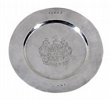 A silver footed salver by Friends of St George