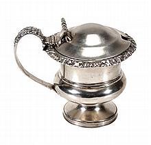 A George IV silver mustard pot by Matthew Boulton,