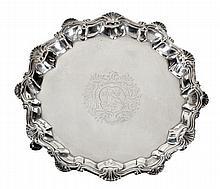A George III silver waiter by Richard Rugg I,