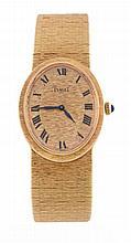 Piaget, ref. 9861 A6, an 18 carat gold bracelet watch, no
