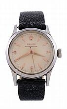 Rolex, Oyster Perpetual, ref. 6332, a stainless steel wristwatch with bubble...