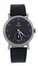 Hermes, ref. 0503782, a stainless steel military style wristwatch, circa 1950