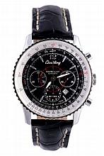 Breitling, Montbrilliant, ref. A41330, a stainless steel wristwatch, no