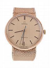 Omega, ref. 331/25410, a 9 carat gold centre seconds bracelet watch