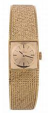 Omega, Swiss Special, ref. 8160, a lady's 18 carat gold bracelet wristwatch, no
