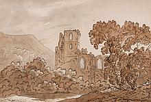 English School (19th Century) - Coity Castle, Glamorgan; Ulvercroft Priory, Leicestershire,