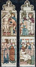 Henry George Holiday (1839-1927) - A pair of stained glass window designs for The Raising of Lazarus, St Oswald Parish Church, Grasmere