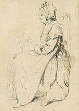 Circle of Peter La Cave - Seated Woman,