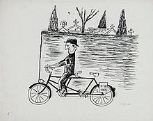 Raymond Savignac (1907-2002) - A group of seven original illustrations,