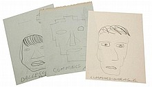 Norman Mailer (1923-2007) - 42 original sketches for the film adaptation of The Naked and the Dead,