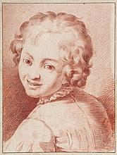 Italian School (18th Century) - Smiling boy looking over his shoulder,