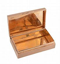 A 9 carat gold rectangular pocket box by S. J