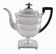 A George III silver pedestal coffee pot by Peter and William Bateman
