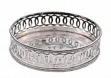 An Italian silver circular bottle coaster, Rome 1815-1870 second standard