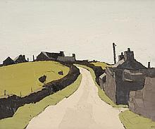 Sir Kyffin Williams (1918-2006) - Farms above Waunfawr