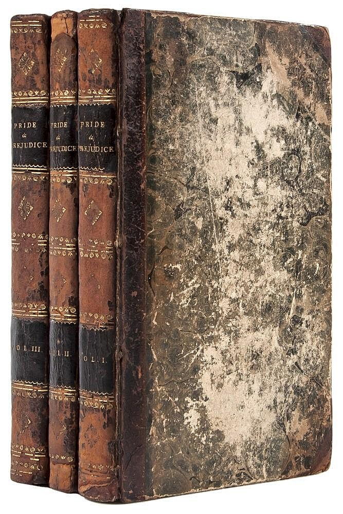 Austen (Jane) Pride and Prejudice, 3 vol., first