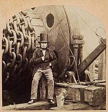 Robert Howlett (1831-1858); George Downes - Isambard Kingdom Brunel, 1857