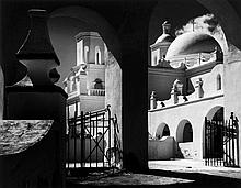 Ansel Adams (1902-1984) - Arches, North Court Mission San Xavier del Bac, Tucson, Arizona, 1968