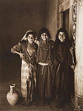 Rudolf Lehnert and Ernest Landrock (1878-1948/66) - Three Smiling Girls, Tunisia, ca.1905