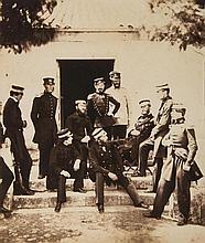Roger Fenton (1819-1863) - The Staff at Headquarters, Crimea, 1855