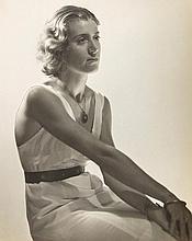 Dora Maar (1907-1997) - Portrait d' Assia Assise de Trois Quarts, Paris, ca.1934