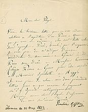 Letter signed to Camille Pleyel, of Pleyel & Co