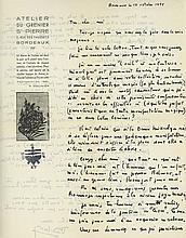 6 Autograph Letters signed to André Breton, 11pp