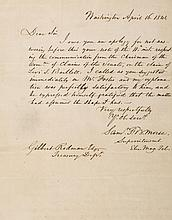 Autograph Letter signed to Gilbert Rodman at the Treasury Department, 1p