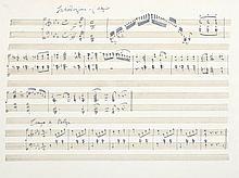 Les Belles-de-Nuit. Valses Nouvelles, manuscript music score, title and 10pp