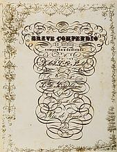 Moniz Breve Compendio de Musica..., manuscript in Portugese, title and 22pp