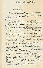 Autograph Letter signed to A.E. Badaire, 2pp