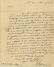 Autograph Letter signed to William Ellsworth, 1p., sm