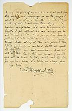 Autograph Letter signed to Henry Fothergill Chorley, Belgrave Square, London