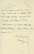 Autograph Letter signed to Eduard Rosenbaum at the London School of Economics