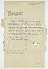 Typed Letter signed to Professor Dr. F.L. Breusch, 1p
