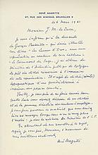 Autograph Letter signed to Joseph-Marie Lo Duc, 1p