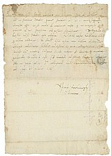 English and Continental Letters & Documents