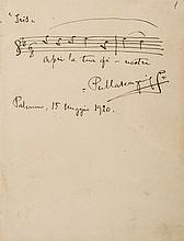 Autograph Letter signed to Monsieur Gonnsburg, 1p