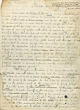 Draft of the beginning of Chapter III of his novel