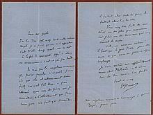Autograph Letter to Philomena Boyer, 2 pp