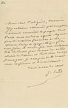 Autograph Letter signed to Agricol Perdiguier, 1p