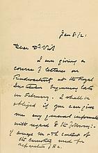 Autograph Letter signed to Dr. ?Vist, 3pp