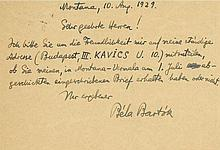 Autograph Postcard signed to Schott Music publisher's, of Mainz, in German
