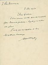 Autograph Letter signed to an unidentified recipient, 1p