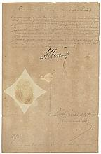 [Licence to Sergeant Mateo Feraçe to travel to Italy on private business], D.s