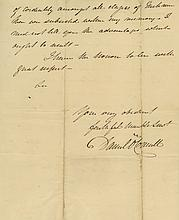 Autograph Letter signed to ?Dr. MacNeven, 3pp., sm