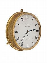 A Regency Circular Engraved Wall Clock by William Johnson